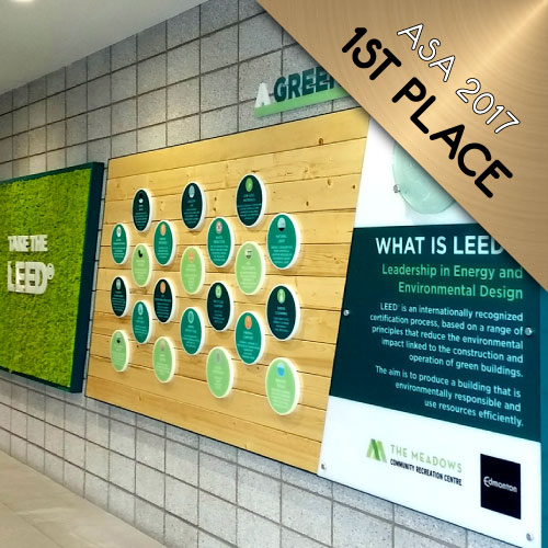 The Meadows Recreation Centre - LEED feature wall